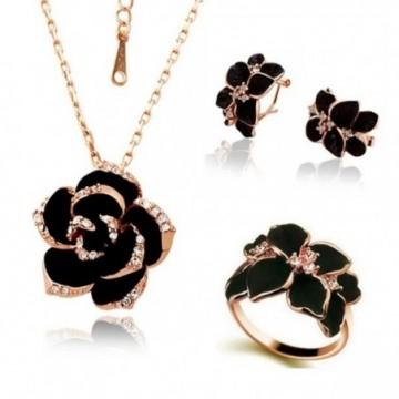 Rose Flower Enamel Jewelry