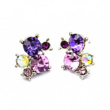 Colourful gems studs