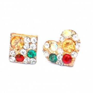 Colourful stud earings