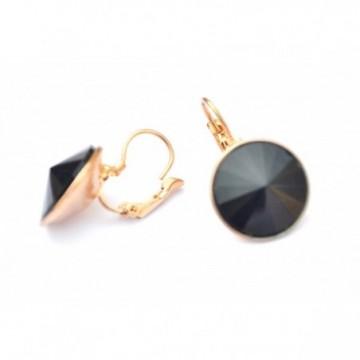 Fashion crystel black earings