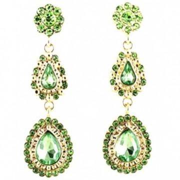 Elegant Green Stones danglers