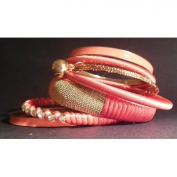 Set of orange bangles